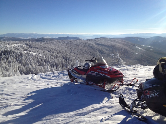 snow mobile at Paws Up